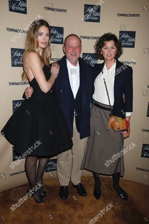 Doutzen Kroes, David Bonnouvrier, DNA Model Agency Founder and Trish Goff
