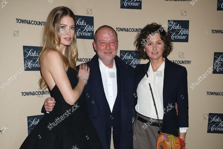 Stock Image of Doutzen Kroes, David Bonnouvrier, DNA Model Agency Founder and Trish Goff