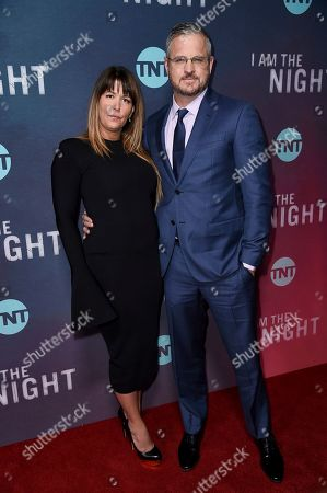 "Patty Jenkins, Sam Sheridan. Patty Jenkins, left, and Sam Sheridan attend the LA premiere of ""I Am the Night"" at Harmony Gold Theater, in Los Angeles"