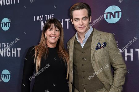"Patty Jenkins, Chris Pine. Patty Jenkins, left, and Chris Pine attend the LA premiere of ""I Am the Night"" at Harmony Gold Theater, in Los Angeles"