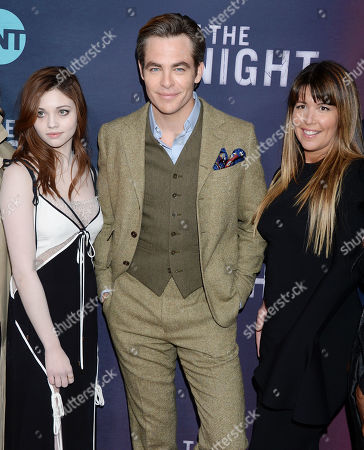 India Eisley, Chris Pine and Patty Jenkins