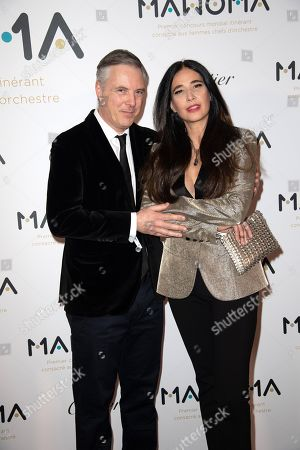Stock Photo of Olivier Lapidus and wife Yara