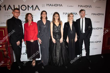 Stock Image of (From L) CEO of Cartier Cyrille Vigneron, Segolene Royal, Princess Caroline of Hanover, Clemence Guerrand, French pianist and Founding President of MAWOMA, French actress Melanie Laurent and Prince Emanuele Filiberto