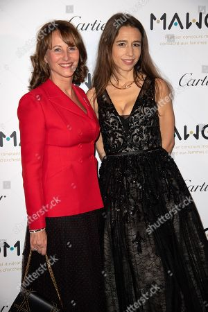 Segolene Royal (L) and Clemence Guerrand, French pianist and Founding President of MAWOMA