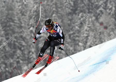 Wiley Maple of the USA in action during the men's Downhill race of the FIS Alpine Skiing World Cup in Kitzbuehel, Austria, 25 January 2019.