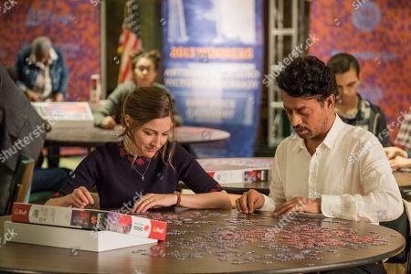 Kelly Macdonald as Agnes and Irrfan Khan as Robert