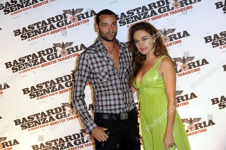 Lory Del Santo and Rocco Pietrantonio