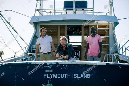 Matthew McConaughey as Baker Dill, Jason Clarke as Frank Zariakas and Djimon Hounsou as Duke