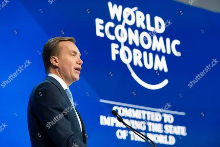 Borge Brende, WEF President, speaks during the closing plenary session in the Congress Hall at the 49th annual meeting of the World Economic Forum (WEF) in Davos, Switzerland, 25 January 2019. The meeting brings together entrepreneurs, scientists, corporate and political leaders in Davos under the topic 'Globalization 4.0' from 22 to 25 January 2019.