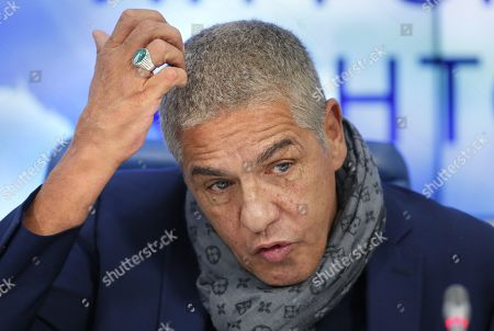 Stock Image of Samy Naceri attends a news conference in Moscow, Russia, 25 January 2019, on occasion of the premiere of the feature film 'Gone Into Fog' by Russian film director Vera Sokolova. The premiere of the movie is expected in September 2019.