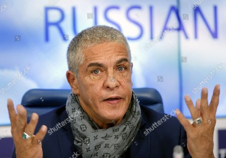 Stock Photo of Samy Naceri attends a news conference in Moscow, Russia, 25 January 2019, on occasion of the premiere of the feature film 'Gone Into Fog' by Russian film director Vera Sokolova. The premiere of the movie is expected in September 2019.