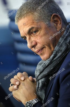 Samy Naceri attends a news conference in Moscow, Russia, 25 January 2019, on occasion of the premiere of the feature film 'Gone Into Fog' by Russian film director Vera Sokolova. The premiere of the movie is expected in September 2019.