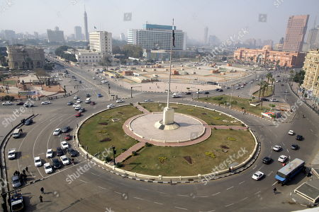 A general view of Tahrir Square, Cairo, Egypt, 25 January 2019 on the eighth anniversary of the uprising that toppled former President Hosni Mubarak. More than 800 people were killed and thousands injured during the 18-day uprising against the Egyptian regime which led to the removal of President Hosni Mubarak on 11 February 2011.