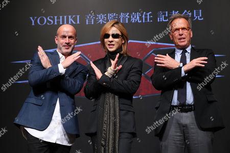 Yoshiki, movie director D.J. Caruso and Producer Mark Johnson