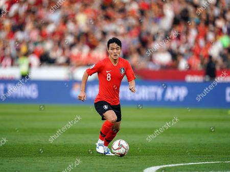 Stock Picture of Ju Se-jong of South Korea during Korea v Qatar at the Zayed Sports City Stadium in Abu Dhabi, United Arab Emirates, AFC Asian Cup, Asian Football championship