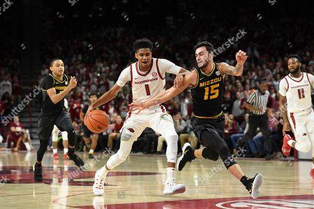 Editorial picture of Missouri Arkansas Basketball, Fayetteville, USA - 23 Jan 2019