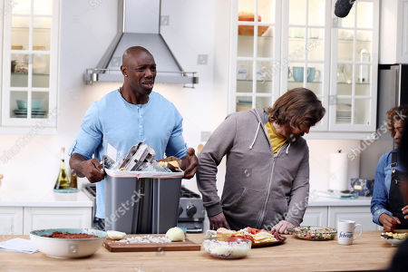 IMAGE DISTRIBUTED FOR FEBREZE - Pro Football Hall of Famer, Terrell Owens, shoots a scene for Febreze's Super Bowl campaign on Jan. 21 in Los Angeles. Owens has partnered Febreze to remind the millions of Super Bowl party hosts (and attendees) that with Febreze in their line-up on Game Day, they can tackle any celebration-stopping odors that may come their way pregame, postgame and all the time in between! Folks can visit youtube.com/febreze to see content featuring Owens and to learn why #PartyPrepWithFebreze is a must