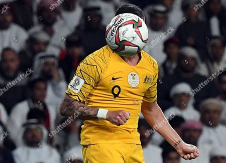 Jamie Maclaren of Australia in action during the 2019 AFC Asian Cup quarter final match between Australia and UAE in Al Ain, United Arab Emirates, 25 January 2019.