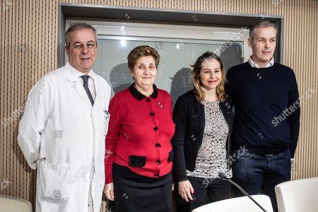 Professor Franco Locatelli, President of Bambino Gesu' Hospital Mariella Enoc, Italian Minister of Healthy Giulia Grillo, Paolo Montresor father of Alex