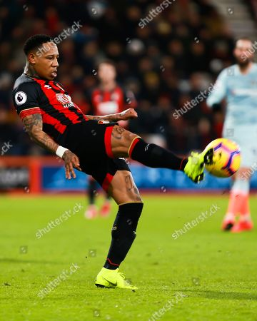 Nathaniel Clyne of Bournemouth clears