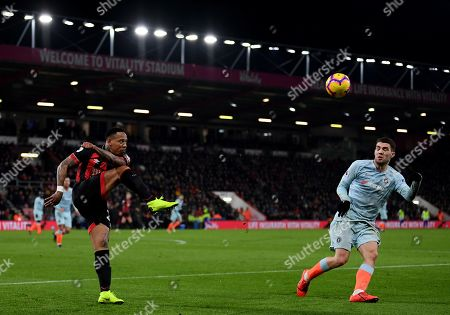 Nathaniel Clyne of Bournemouth clears the ball