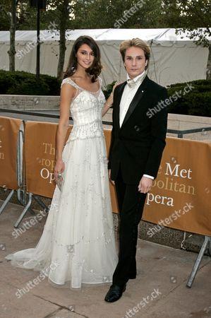 Austin Scarlett, designer (right) and model Anna