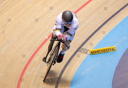 Stock Picture of Jody Cundy on his way to silver in the mixed para time trial.