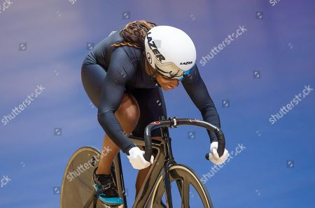 Stock Photo of Kadeena Cox on her way to gold in the mixed para time trial.