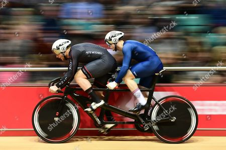 Stock Photo of James Ball and Peter Mitchell during the Mixed Para 200m Flying Start Time Trial.