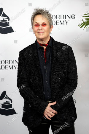 Mary Gauthier arrives at a party for Grammy nominees, in Nashville, Tenn