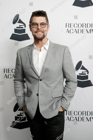 Jason Crabb arrives at a party for Grammy nominees, in Nashville, Tenn
