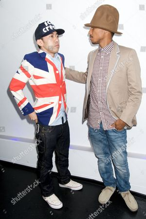 Nigo (Japanese designer of Bathing Ape ) and Pharrell Williams