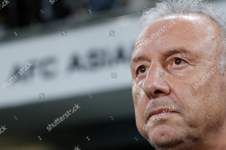 United Arab Emirates' head coach Alberto Zaccheroni stands on the touchline before the AFC Asian Cup quarterfinal soccer match between United Arab Emirates and Australia at Hazza Bin Zayed Stadium in Al Ain, United Arab Emirates