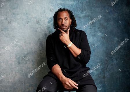"""Rashid Johnson poses for a portrait to promote the film """"Native Son"""" at the Salesforce Music Lodge during the Sundance Film Festival, in Park City, Utah"""
