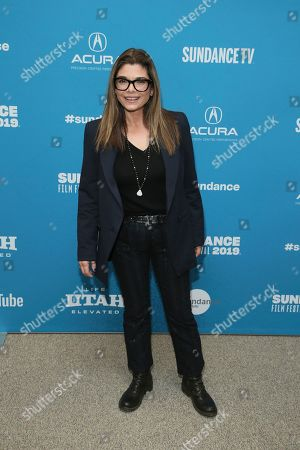 "Laura San Giacomo poses at the premiere of ""Honey Boy"" during the 2019 Sundance Film Festival, in Park City, Utah"