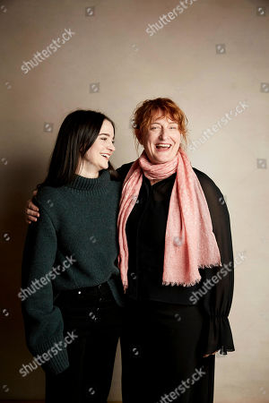 """Stock Picture of Aisling Franciosi, Jennifer Kent. Aisling Franciosi, left and director Jennifer Kent pose for a portrait to promote the film """"The Nightingale"""" at the Salesforce Music Lodge during the Sundance Film Festival, in Park City, Utah"""