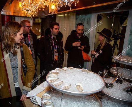 Jordana Spiro, Tony Hale. Jordan Spiro, left, and Tony Hale mingle at the Music Lodge during the Sundance Film Festival on Friday, Jan.25,2019, in Park City, Utah