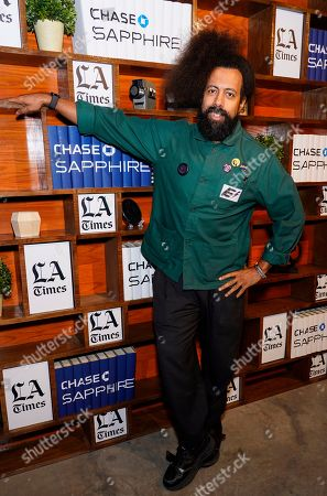 Reggie Watts hangs out at the LA Times Studio at Sundance Film Festival presented by Chase Sapphire, in Park City, Utah