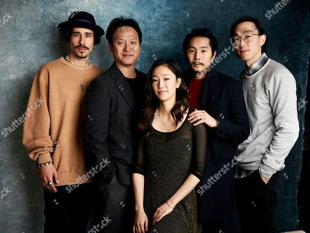 "Stock Image of Octavio Pizano, James Kang, Tiffany Chu, Justin Chon, Teddy Lee. Octavio Pizano, from left, James Kang, Tiffany Chu, writer/director Justin Chon and Teddy Lee pose for a portrait to promote the film ""Ms. Purple"" at the Salesforce Music Lodge during the Sundance Film Festival, in Park City, Utah"