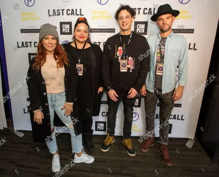 Michelle Pesce, Ana Calderon, DJ Spider, Ryan Best. Michelle Pesce, Ana Calderon, DJ Spider, DJ Ryan Beste at the Last Call Presents the Complex Music in Film Summit, at Park City Live, in Park City, Utah