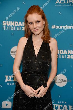 """Madison Beaty. Madisen Beaty, a cast member in """"To the Stars,"""" poses at the premiere of the film during the 2019 Sundance Film Festival, in Park City, Utah"""
