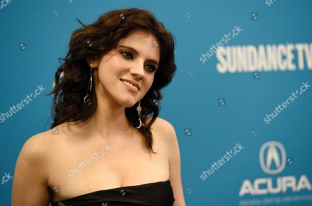 """Stock Photo of Kara Hayward, a cast member in """"To the Stars,"""" poses at the premiere of the film during the 2019 Sundance Film Festival, in Park City, Utah"""