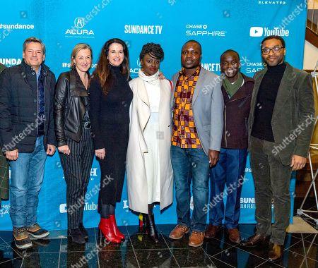 Ted Sarandos, Gail Egan, Andrea Calderwood, Aissa Maiga, William Kamkwamba, Maxwell Simba and Chiwetel Ejiofor