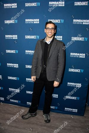 Stock Picture of Adam Tsekhman poses at the SundanceTV Kickoff Party during the 2019 Sundance Film Festival, in Park City, Utah