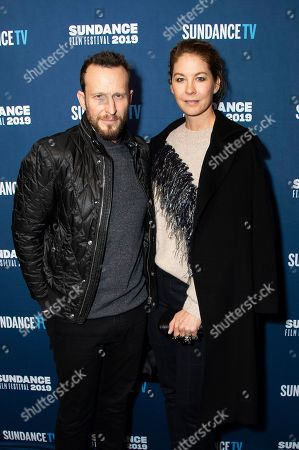 Stock Picture of Bodhi Elfman, Jenna Elfman. Bodhi Elfman, left, and Jenna Elfman pose at the SundanceTV Kickoff Party during the 2019 Sundance Film Festival, in Park City, Utah