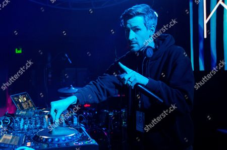 Stock Picture of DJ Ross One during the KAOS Dayclub & Nightclub at Park City Live, in Park City, Utah