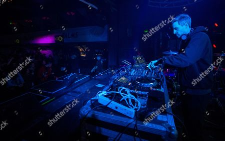 Stock Image of DJ Ross One during the KAOS Dayclub & Nightclub at Park City Live, in Park City, Utah