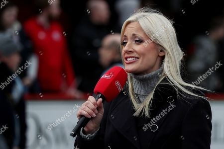 Stock Image of BT Sports presenter Lynsey Hipgrave