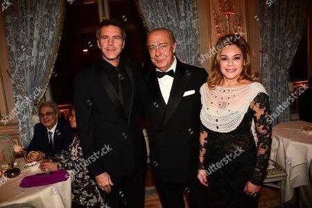 Stock Photo of Prince Emmanuel-Philibert of Savoy, Fawaz Gruosi, Princess Maria del Pilar Murat