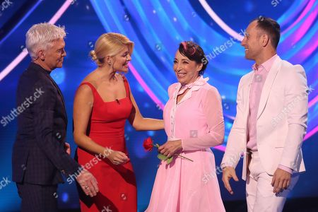 Phillip Schofield, Holly Willoughby, Didi Conn and Lukasz Rozycki
